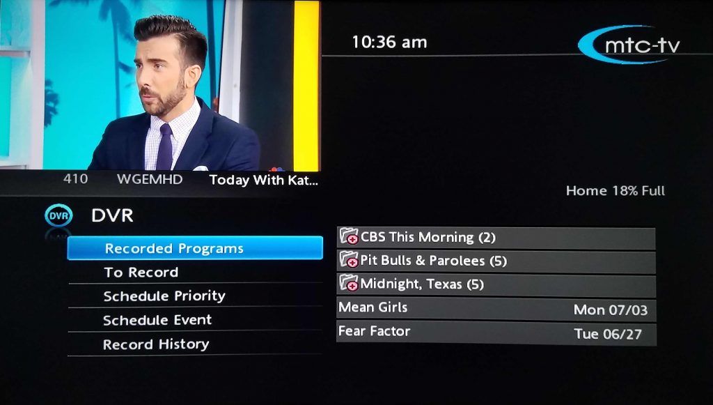 DVR MTC TV