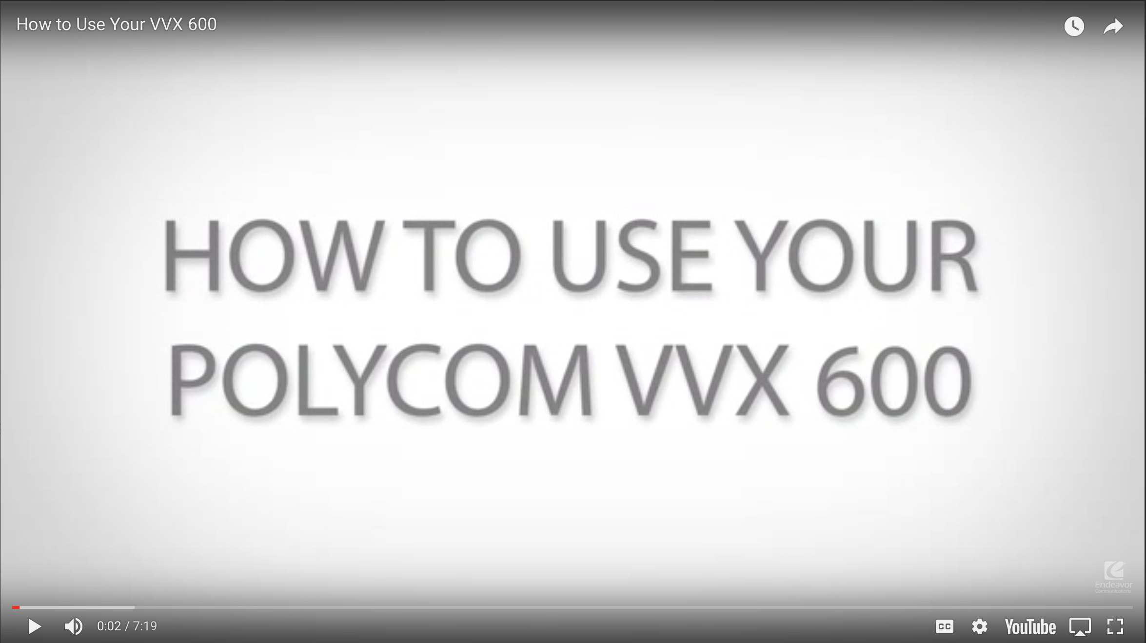 How to use your Polycom VVX 600