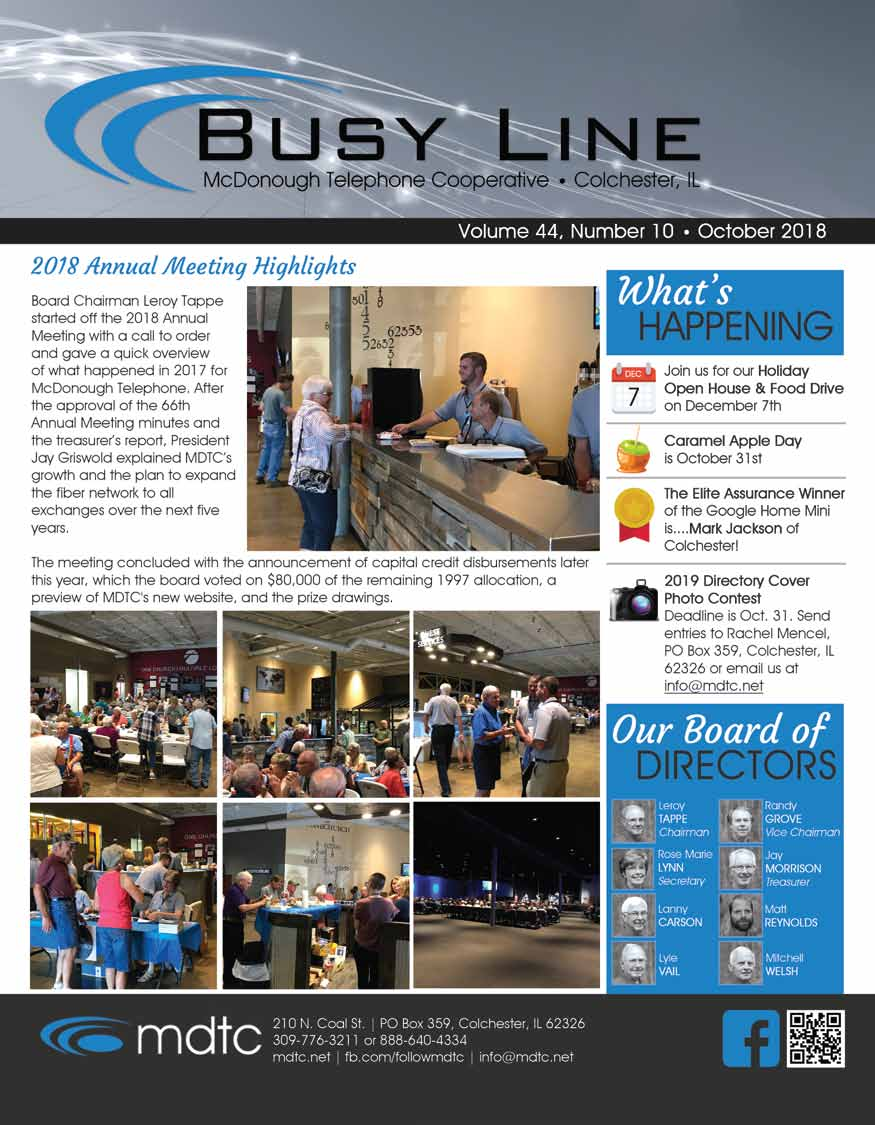 October Busy Line