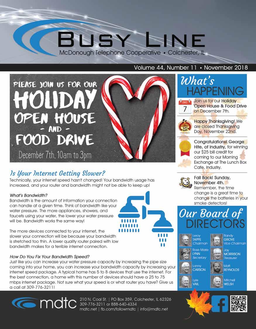 November Busy line