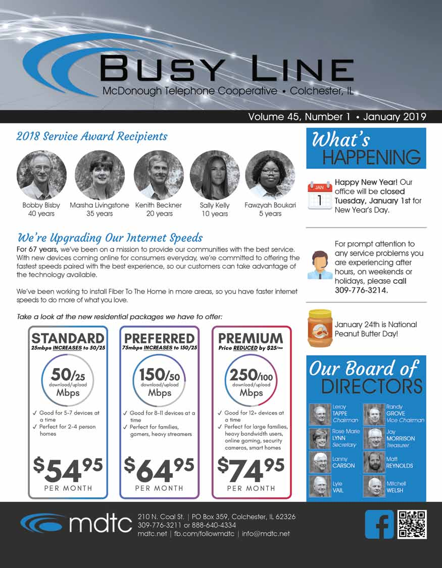 January Busy LIne