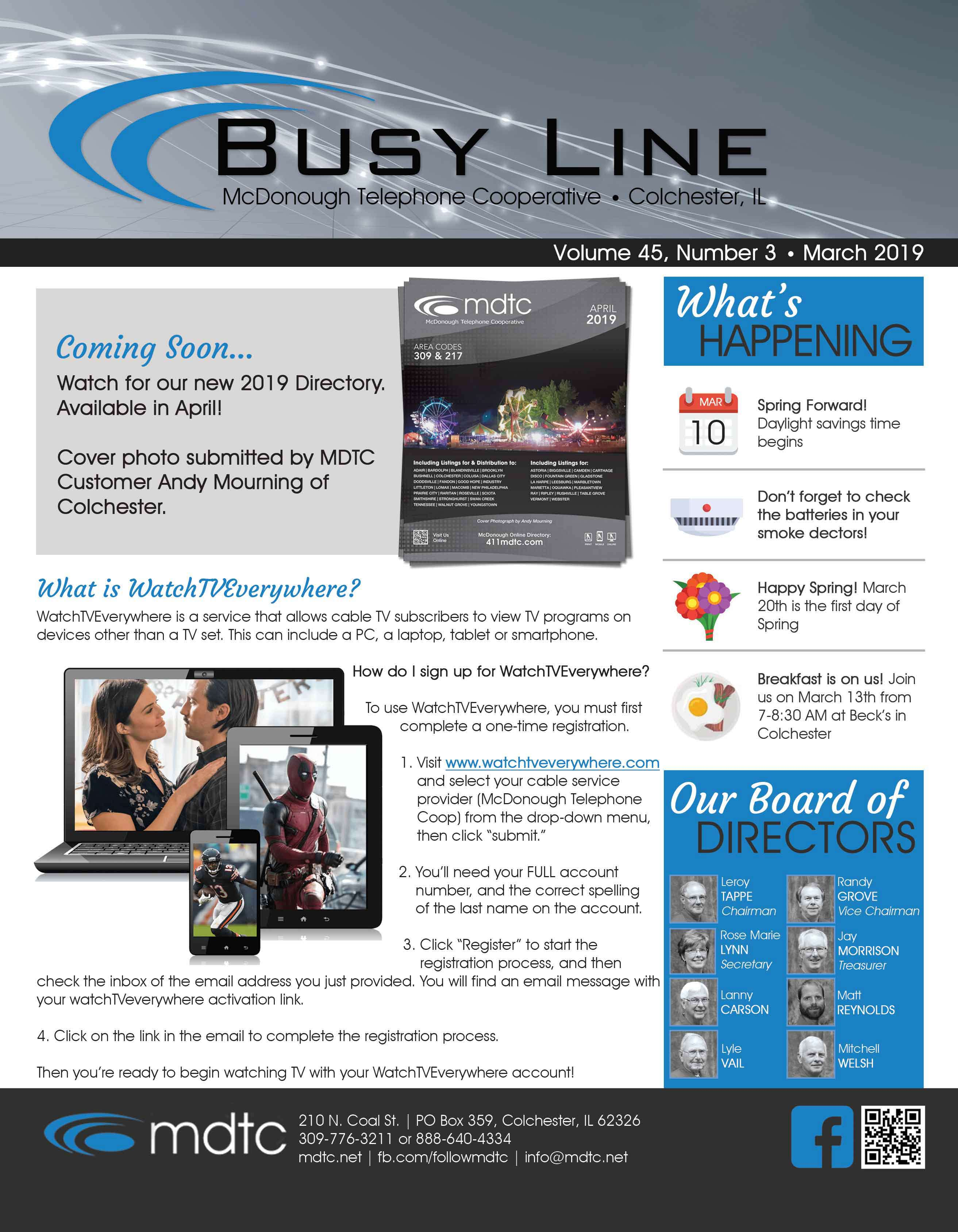 March Busy Line