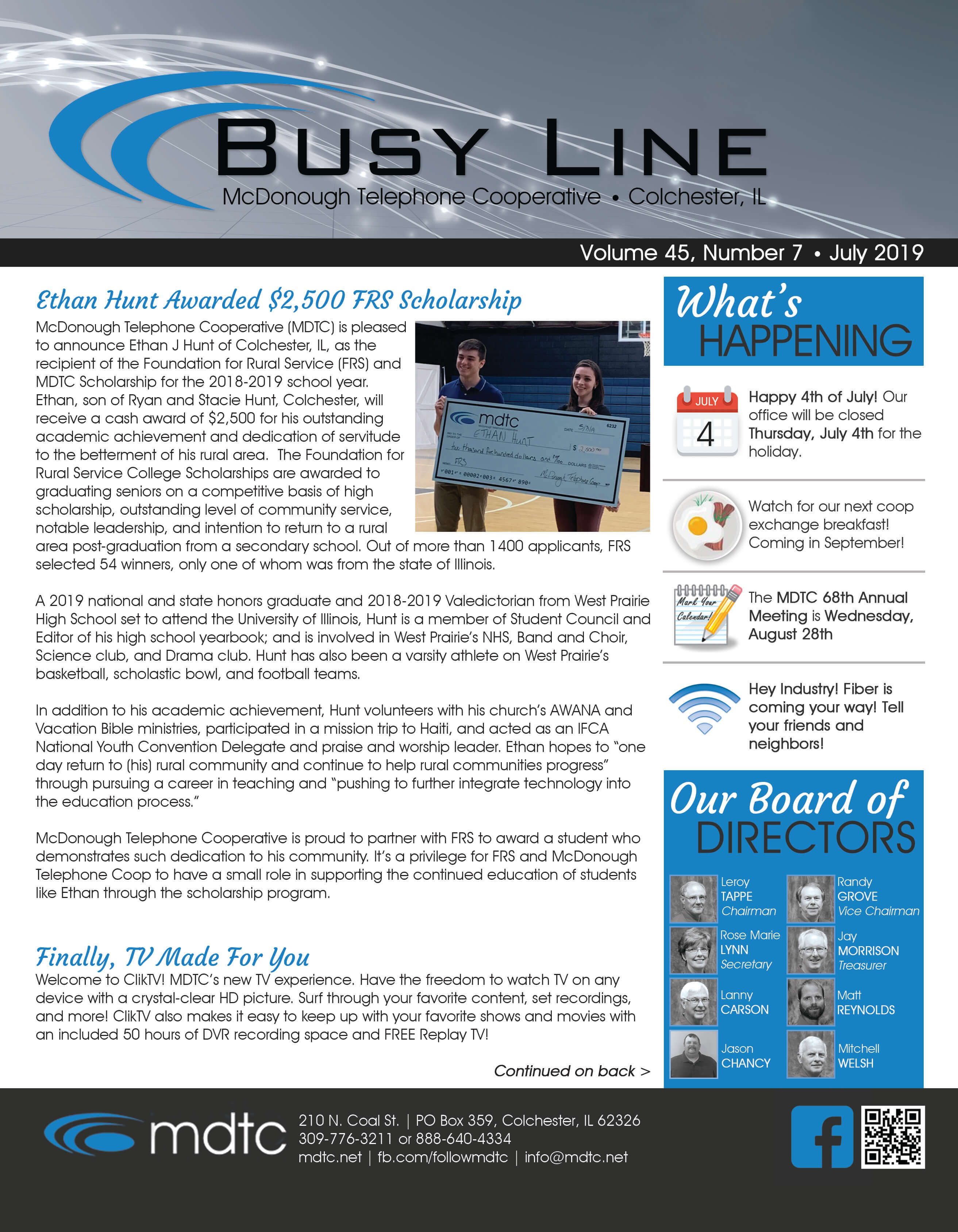 The Busy Line - Newsletter | McDonough Telephone Cooperative