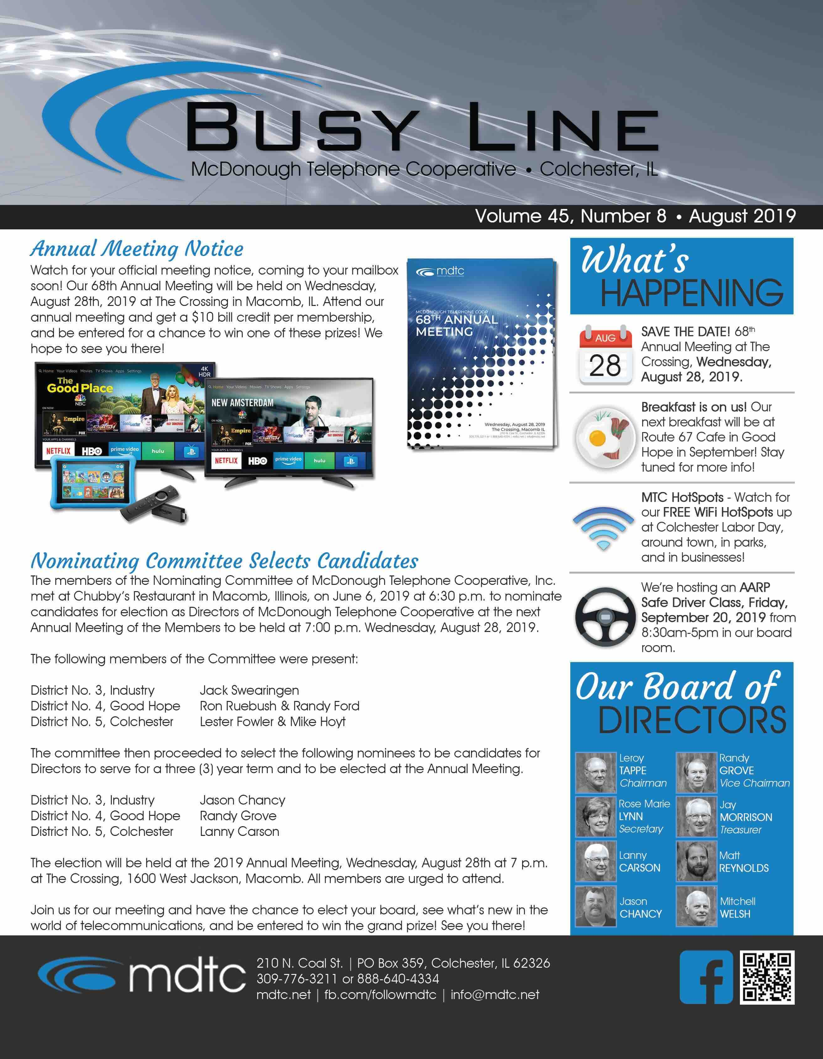 August Busy Line