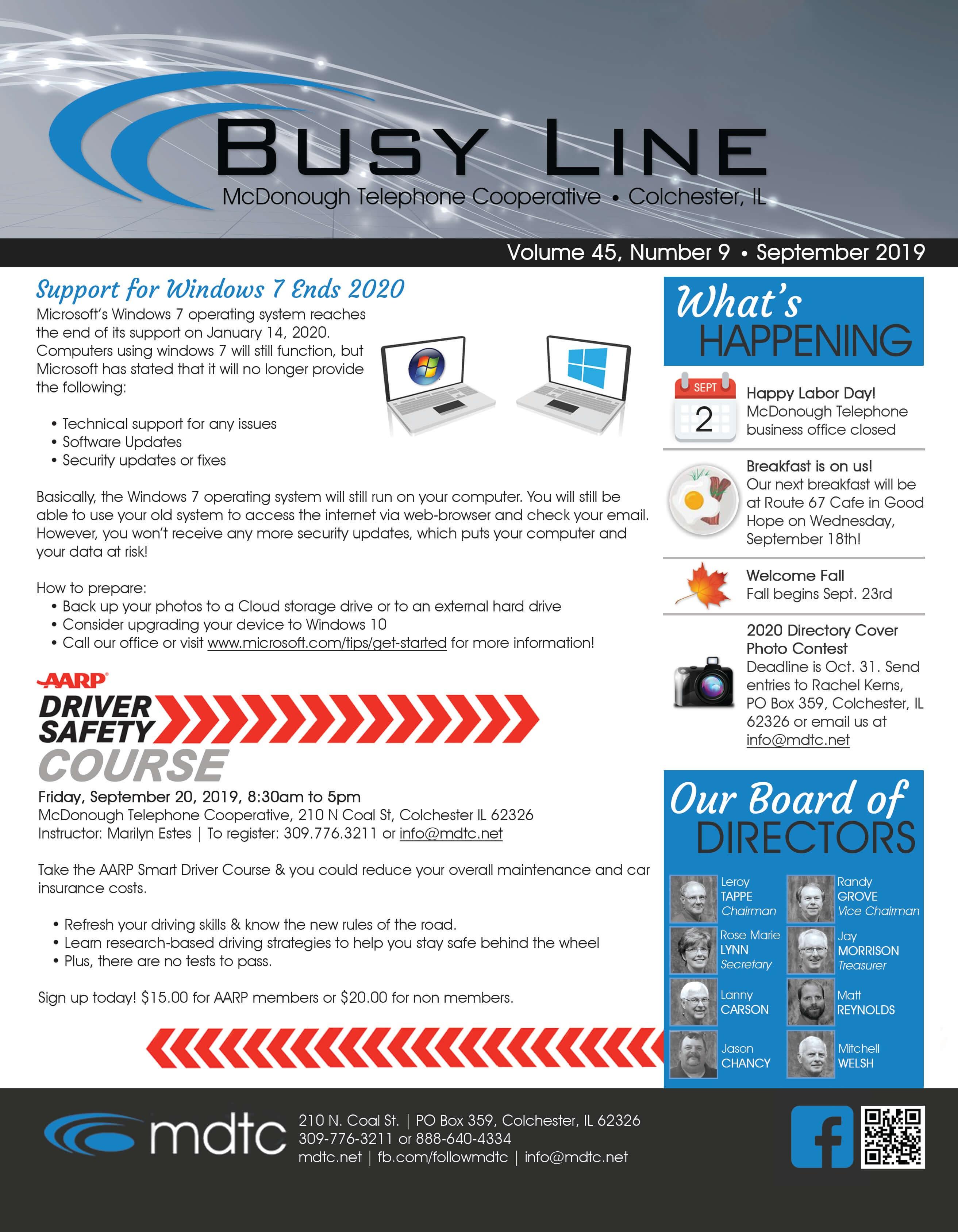 September Busy Line