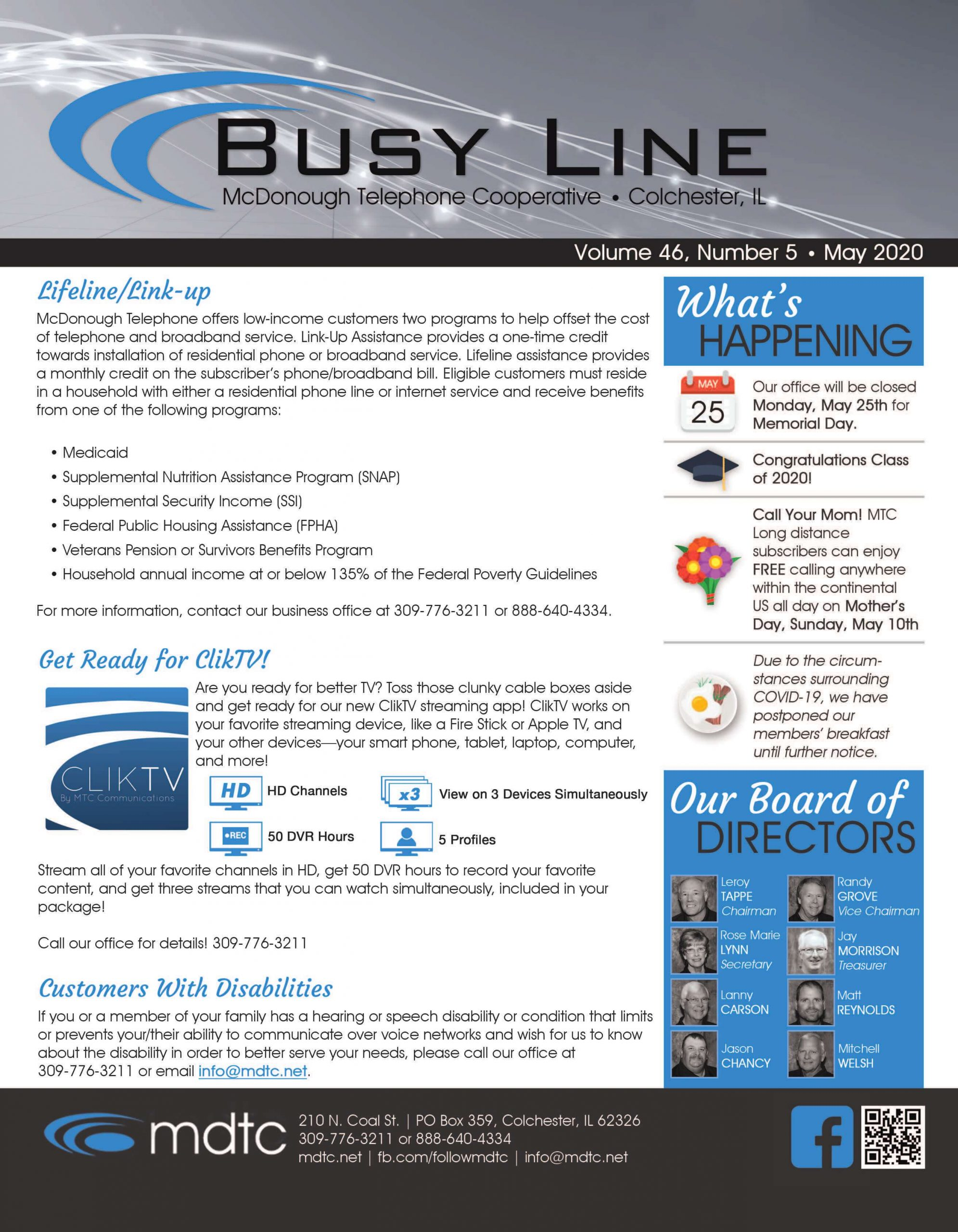 May Busy Line