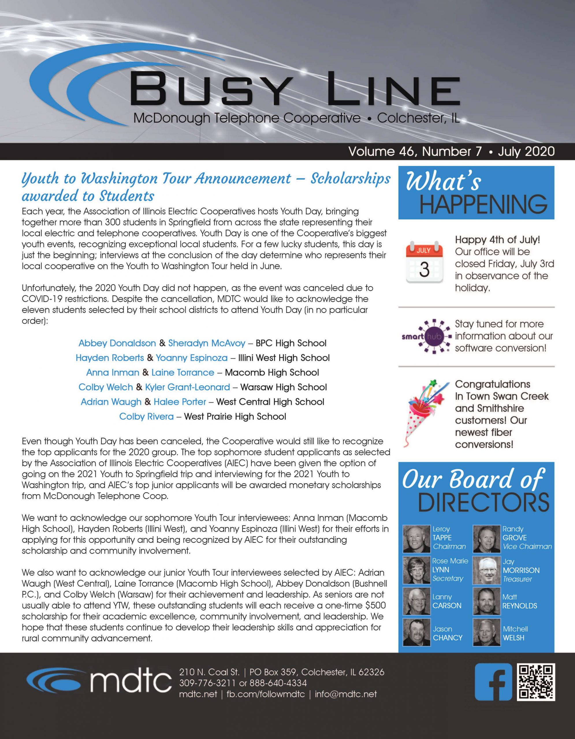 July Busy Line