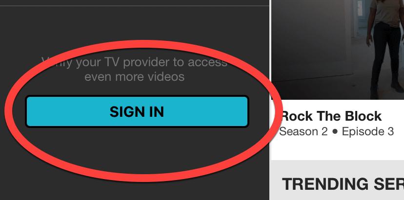 App Sign In
