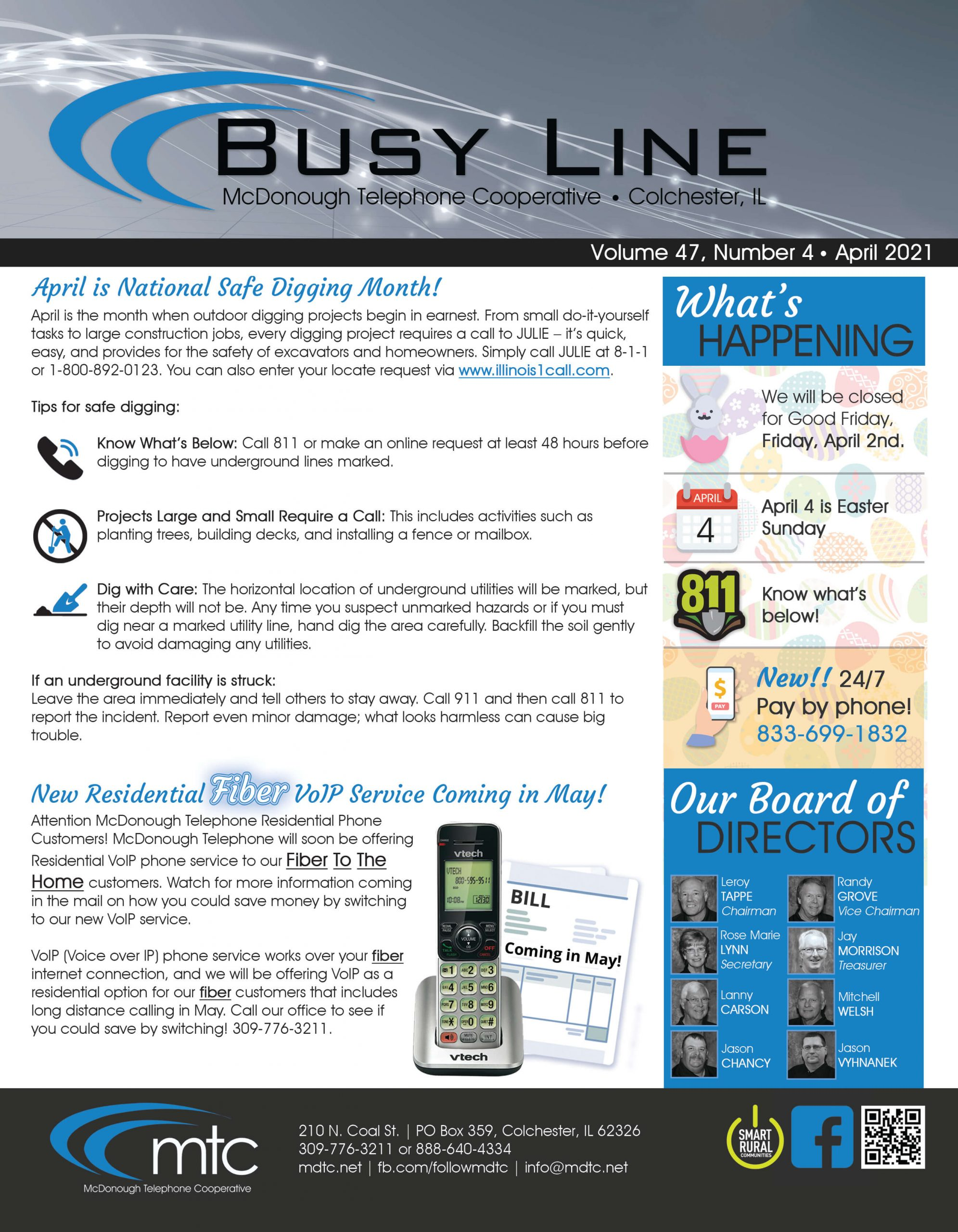 April 21 Busy Line