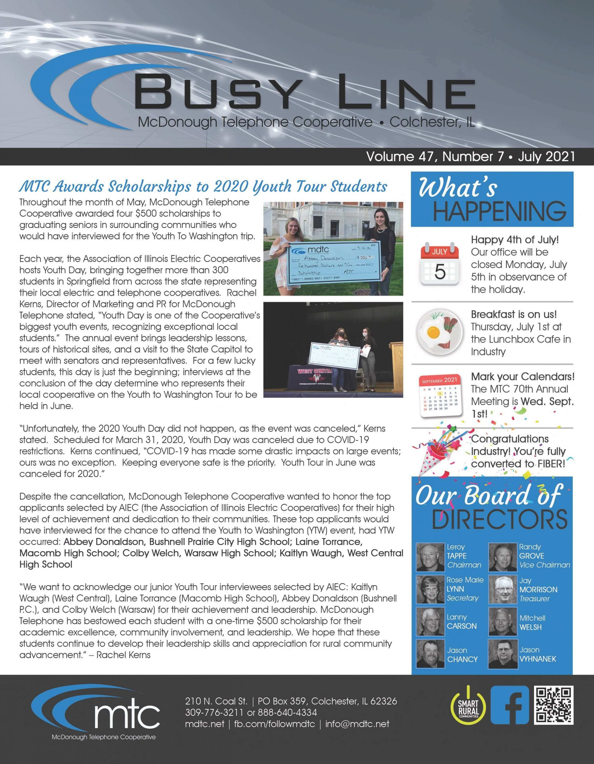July 21 Busy line